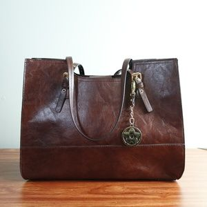 Bueno - Brown Structured Faux Leather Bag